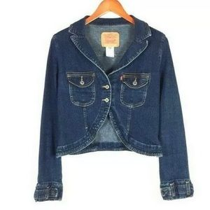 Levi Strauss & Co-Jacket cropped Denim Size XS